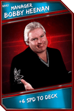 Support Card: Manager - BobbyHeenan - Rare