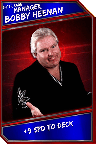 Support Card: Manager - BobbyHeenan - SuperRare