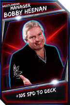 Support Card: Manager - BobbyHeenan - WrestleMania