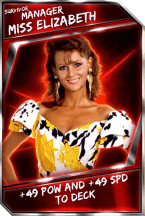 Support Card: Manager - MissElizabeth - Survivor