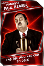 Support Card: Manager - PaulBearer - Survivor