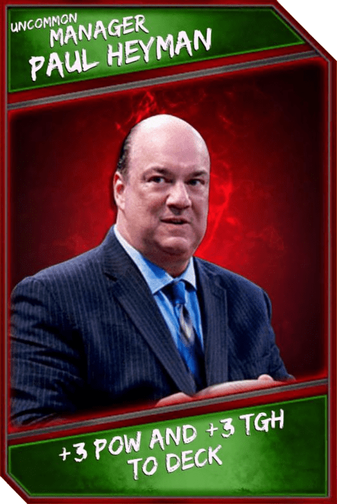 Support Card: Manager - PaulHeyman - Uncommon