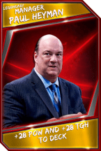 Support Card: Manager - PaulHeyman - Legendary