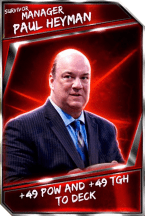 Support Card: Manager - PaulHeyman - Survivor