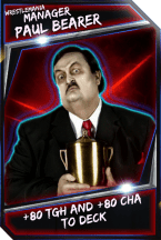 Support Card: Manager - PaulBearer - WrestleMania