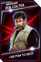 Support Card: Manager - ZebColter - WrestleMania
