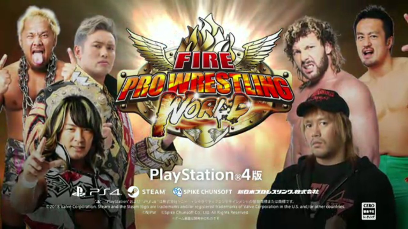 NJPW Announces Collaboration with Fire Pro Wrestling - PS4 Release This Summer