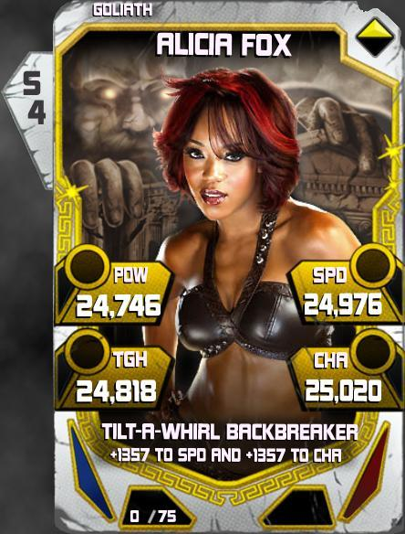 WWE SuperCard Throwback Alicia Fox
