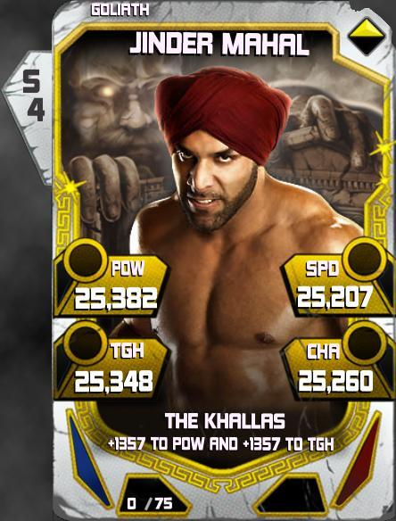 WWE SuperCard Throwback Jinder Mahal