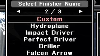 SvR 2011: Create-A-Finisher Preset Call Names List