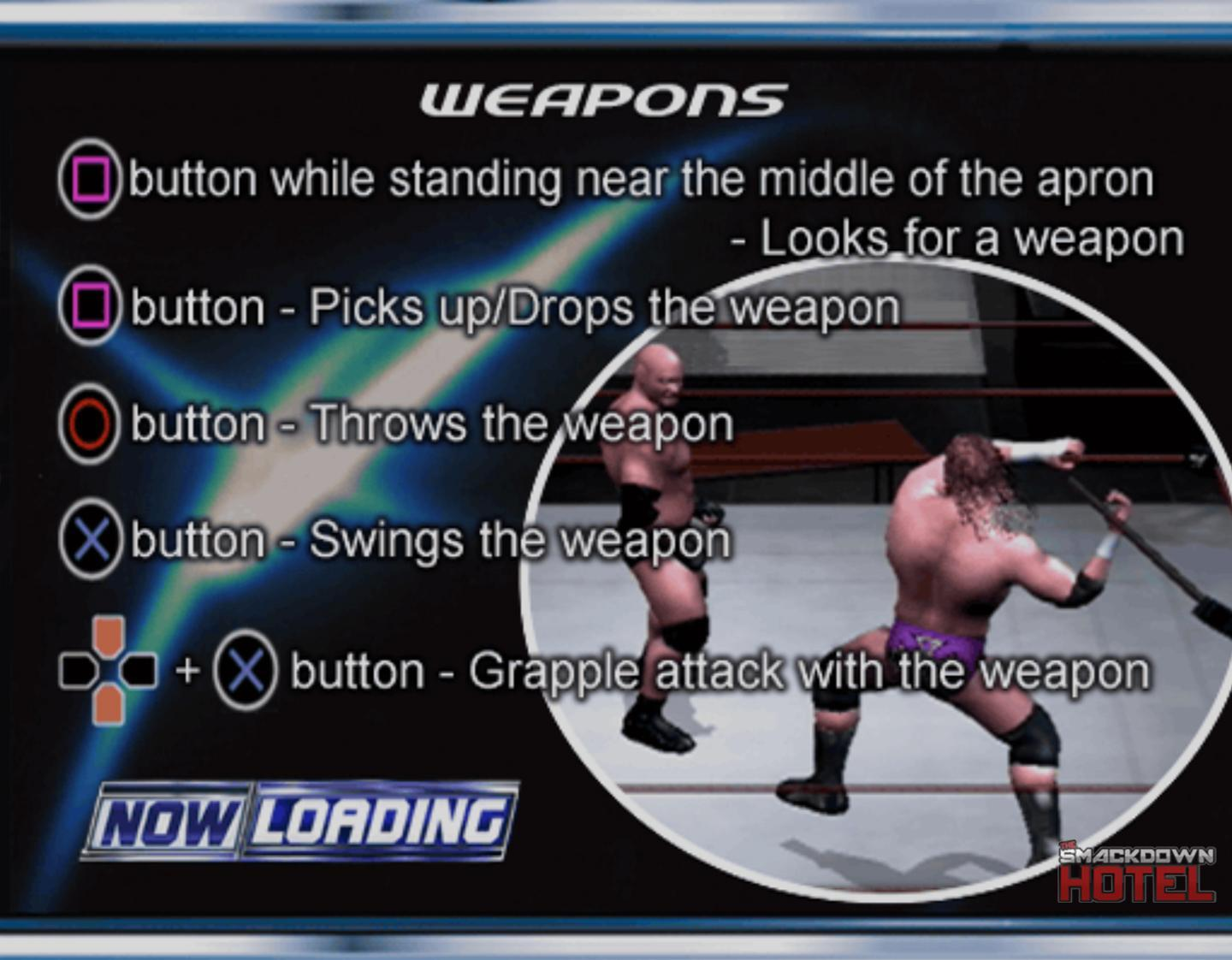 SmackDown Here Comes The Pain Weapons Controls PS2 Pad - HCTP