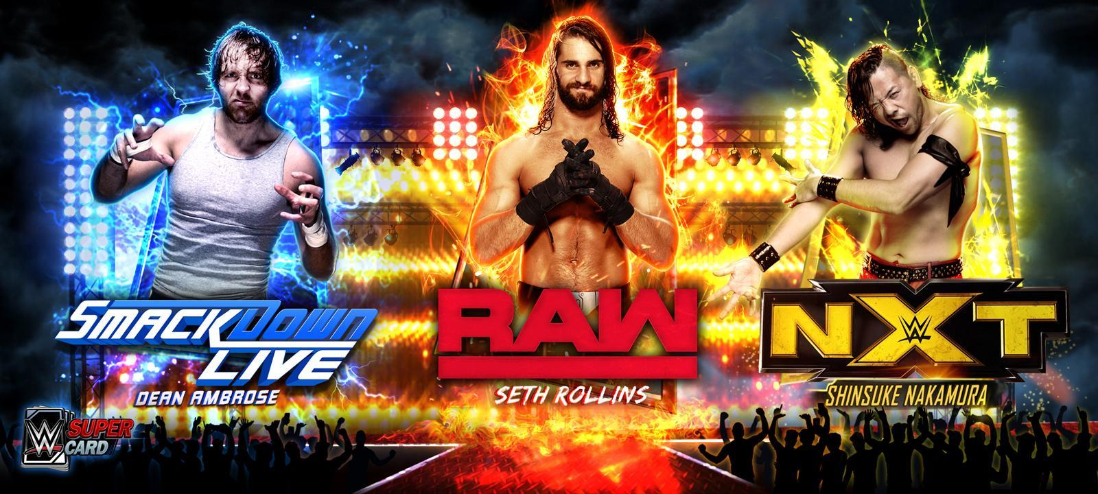WWE SuperCard Season 3 features three new tiers with Raw, SmackDown and NXT cards