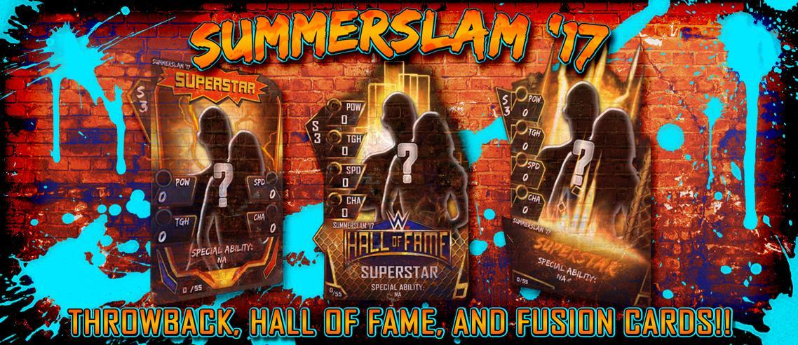 WWE SuperCard: SummerSlam '17 Tier expanded with new Hall of Fame, Throwback & Fusions Cards!