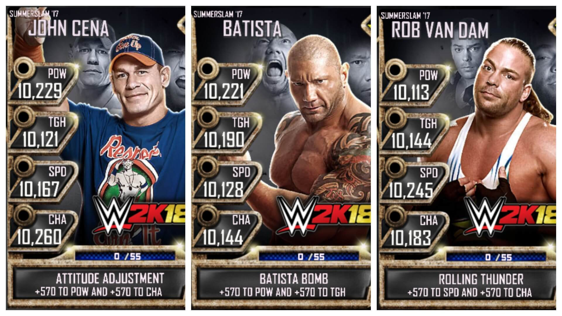 Breakdown of the WWE SuperCard Content Included with WWE 2K18
