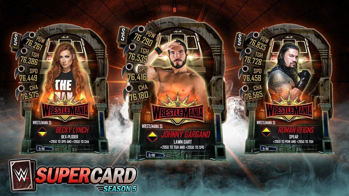 WWE SuperCard: WrestleMania 35 Tier Unveiled - New Cards & Update!