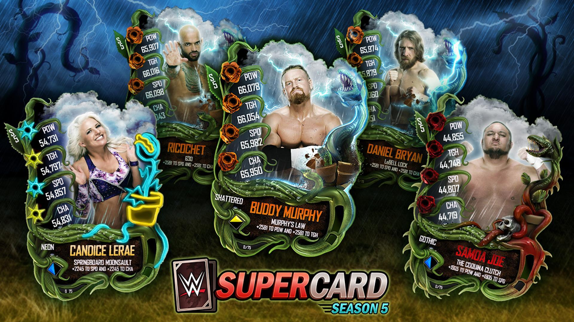 WWE SuperCard Spring 2019 Promotion, featuring 18 New Cards!