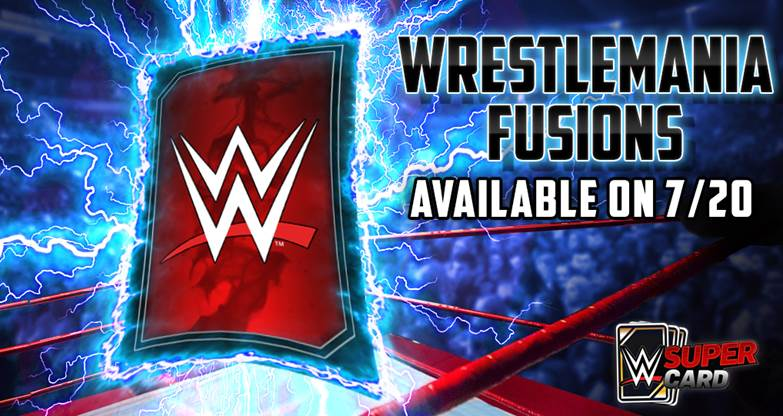 WWE SuperCard adds WrestleMania Fusions & WM Throwback Cards
