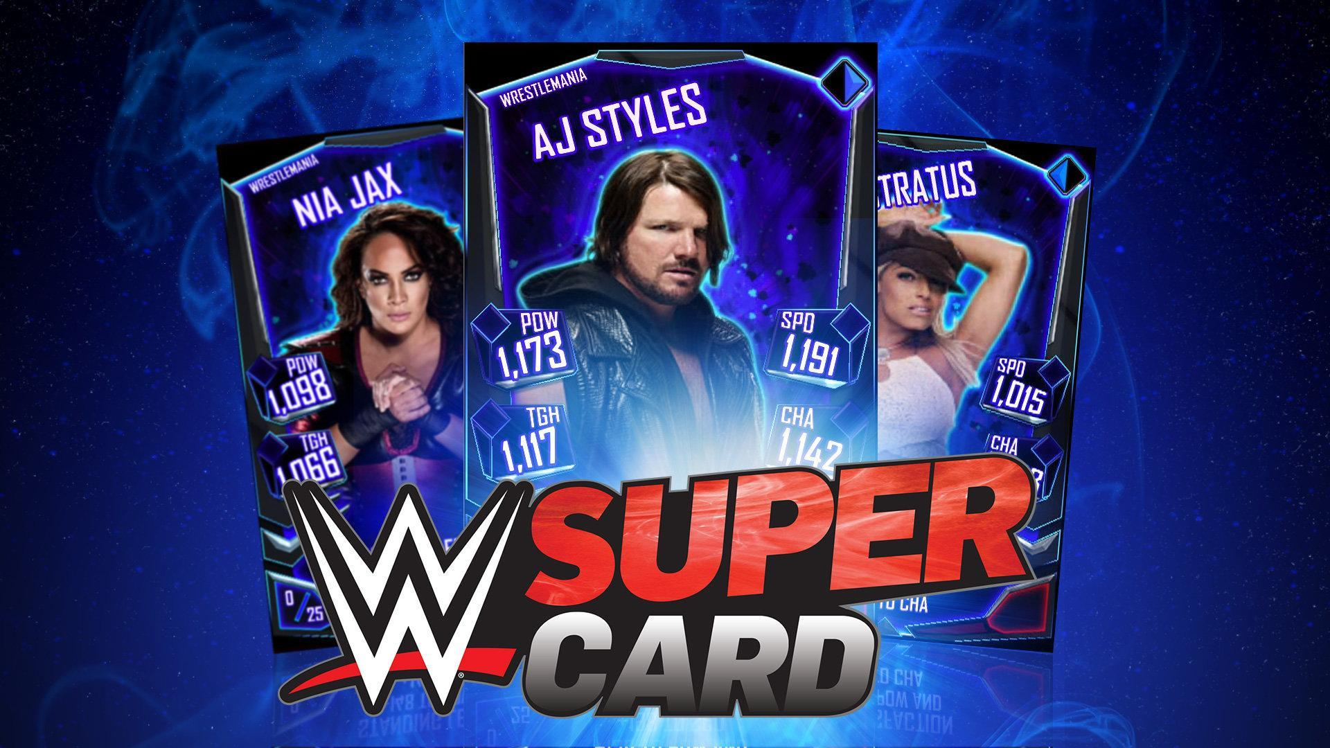 WWE SuperCard WrestleMania Tier Announced: over 70 cards, AJ Styles debuts