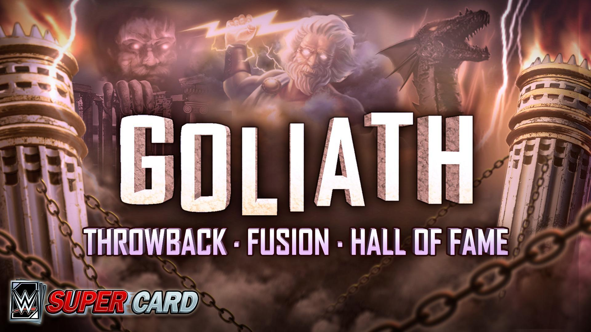 WWE SuperCard Adds Goliath Throwback, Fusion & Hall of Fame Cards