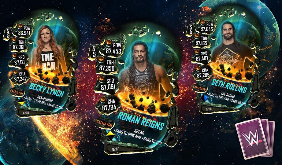 WWE SuperCard Introduces New Cataclysm Tier - All Details & First Cards!
