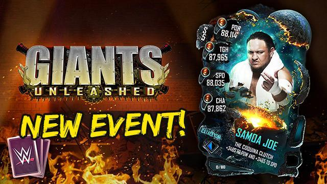 New Giants Unleashed Event Arrives in WWE SuperCard - All Info!