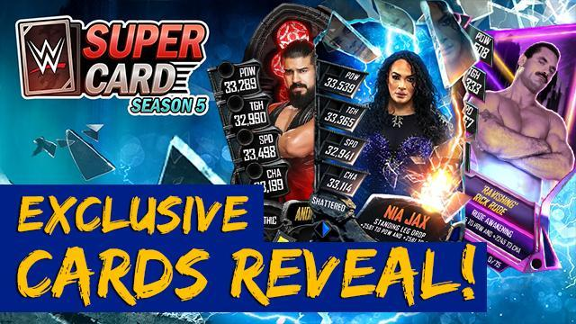 WWE SuperCard Season 5 Exclusive Cards Reveal!