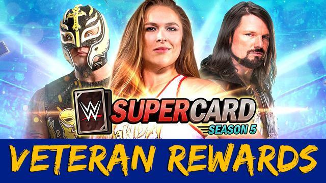 WWE SuperCard: Veteran Rewards coming with Season 5! All Details!