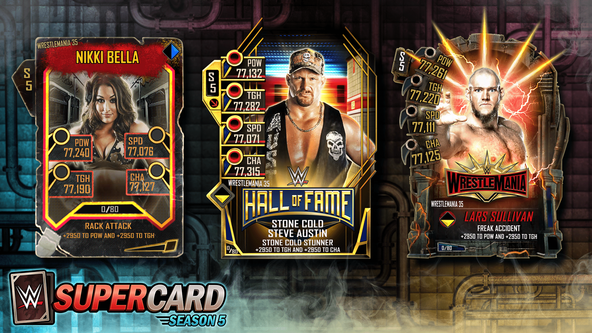 WWE SuperCard: WrestleMania 35 Tier expanded with Throwback, Fusion, and HOF Cards!