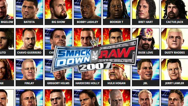 WWE SmackDown vs  Raw 2007 - Roster