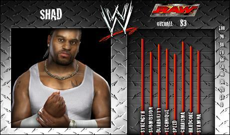 Shad - WWE SmackDown vs Raw 2008 Roster - SVR Countdown