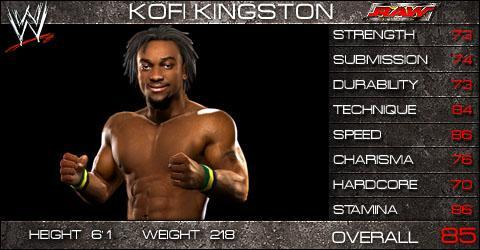 Kofi Kingston Wwe Smackdown Vs Raw 2009 Roster