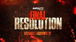 Impact Wrestling Final Resolution 2020