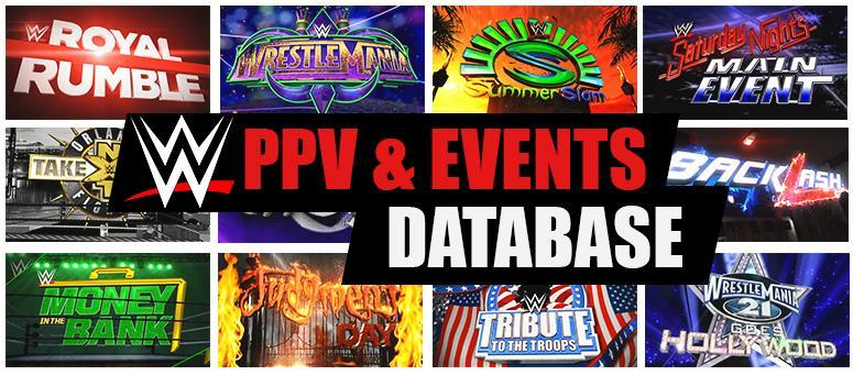 Introducing the complete and interactive WWE Pay Per Views and Special Events Database!