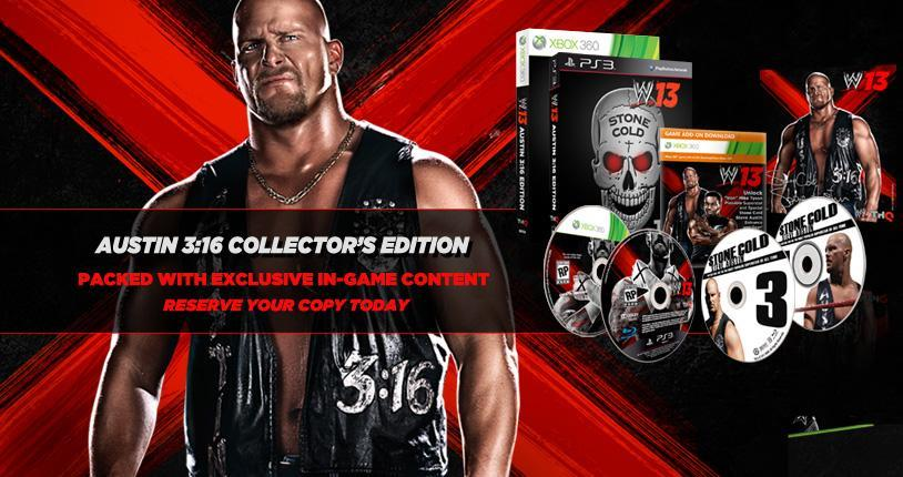 WWE '13 Collector's Edition features Stone Cold Steve Austin