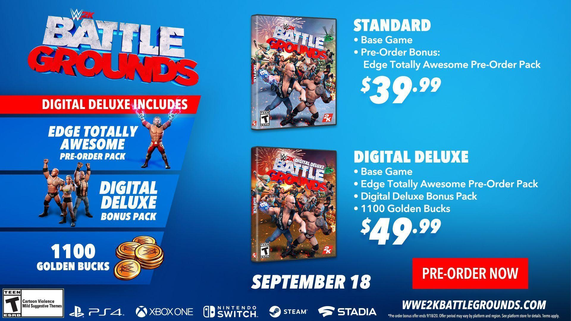 WWE 2K Battlegrounds Game Editions Infographic
