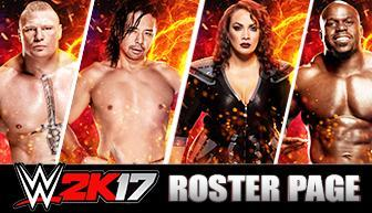 WWE 2K17 Roster Page Superstars