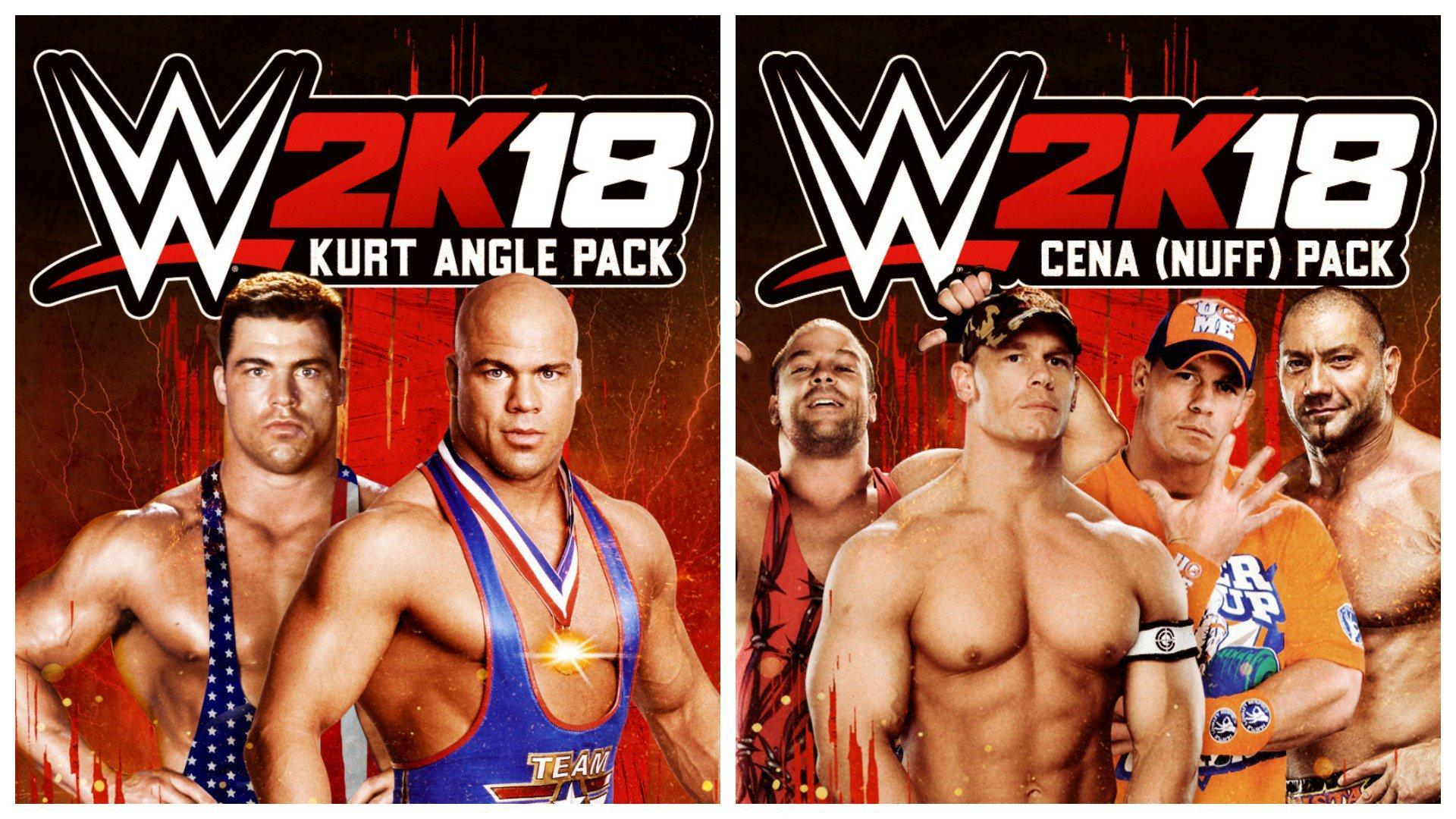 WWE 2K18: Kurt Angle and Cena (Nuff) DLC Packs Now Available For All To Buy