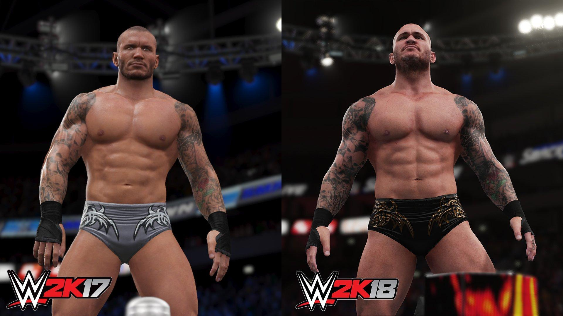 WWE2K18 vs 2K17 Randy Orton Graphics Comparison