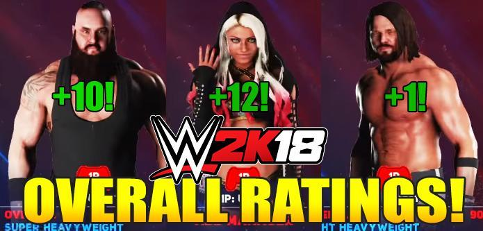 WWE 2K18 All Superstars Overall Ratings Breakdown: Full List and Comparison with WWE 2K17!