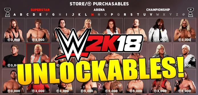 WWE 2K18 All Unlockables: Characters, Arenas & Championships (VC Purchasables)
