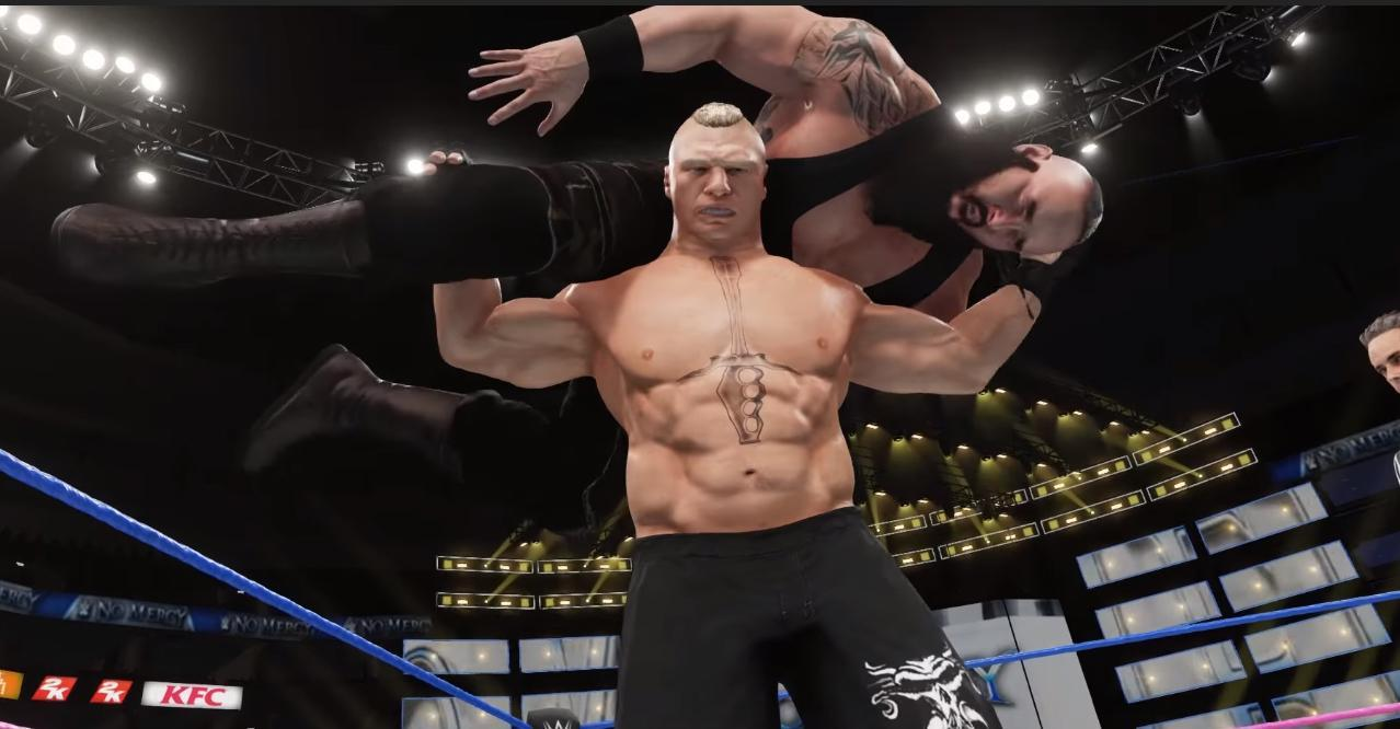 wwe-2k18-brock-lesnar-vs-braun-strowman-at-no-mercy-preview-by-paul-heyman-new-gameplay
