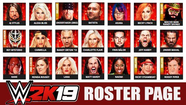 WWE 2K19 Roster - All 252 Superstars (Raw, SmackDown Live