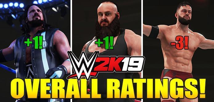 WWE 2K19 Rating Reveal: Full List of Superstars Overalls Confirmed and Comparison with WWE 2K18!
