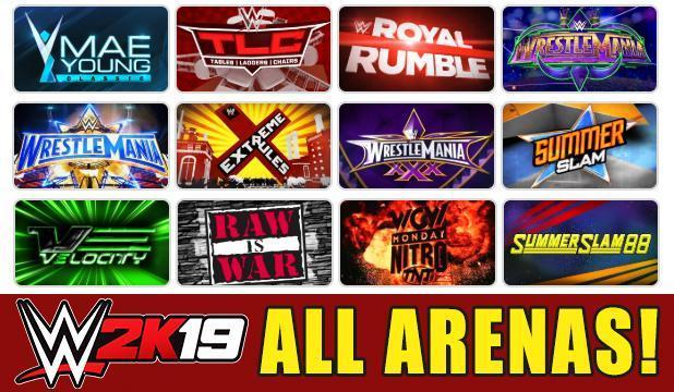 WWE 2K19 Arenas FULL LIST: All Current, Classic and Create-An-Arena