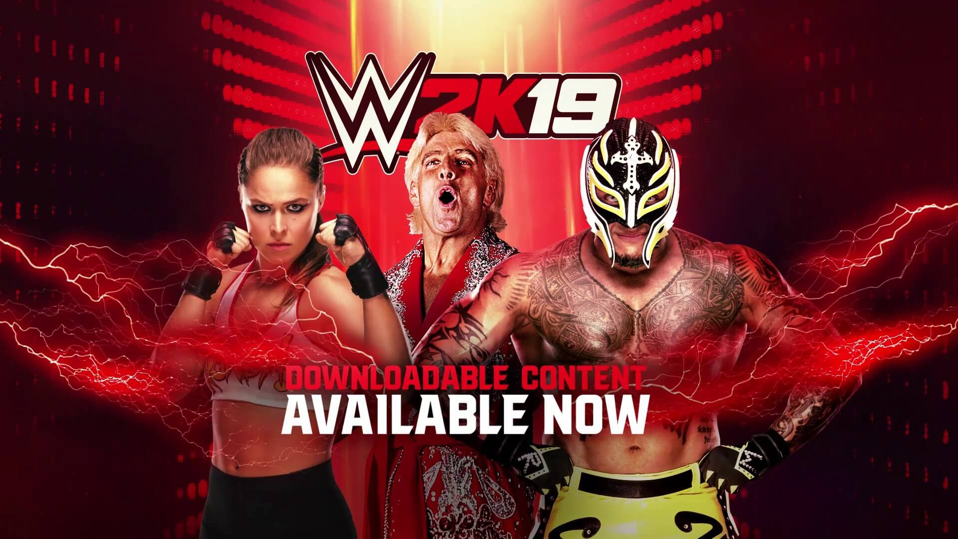 WWE 2K19: Ronda Rousey, Rey Mysterio, and Ric Flair DLC Now Available! (with Trailer)