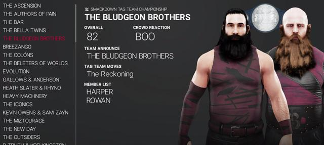 WWE 2K19 Default Tag Teams & Stables - Full List with Overalls