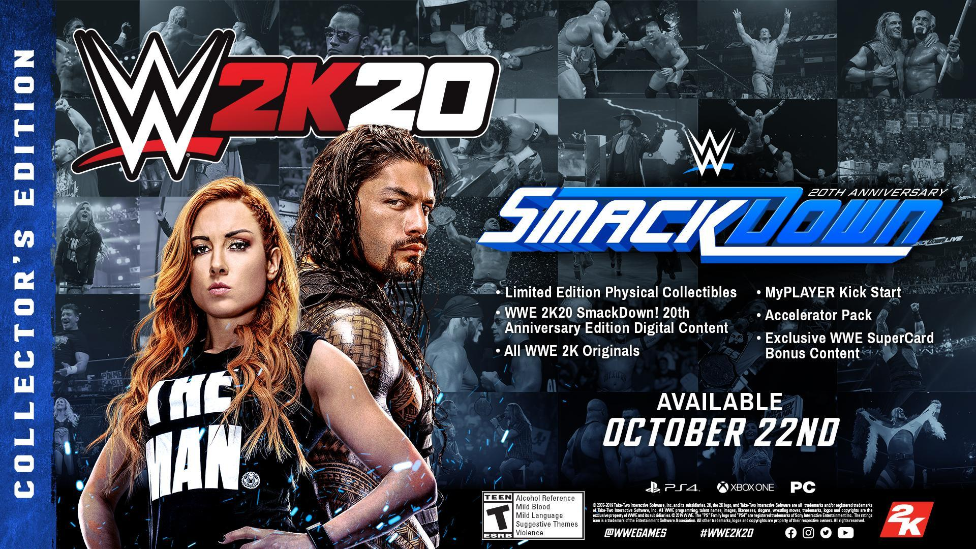 WWE 2K20 Editions Collector's SmackDown Edition