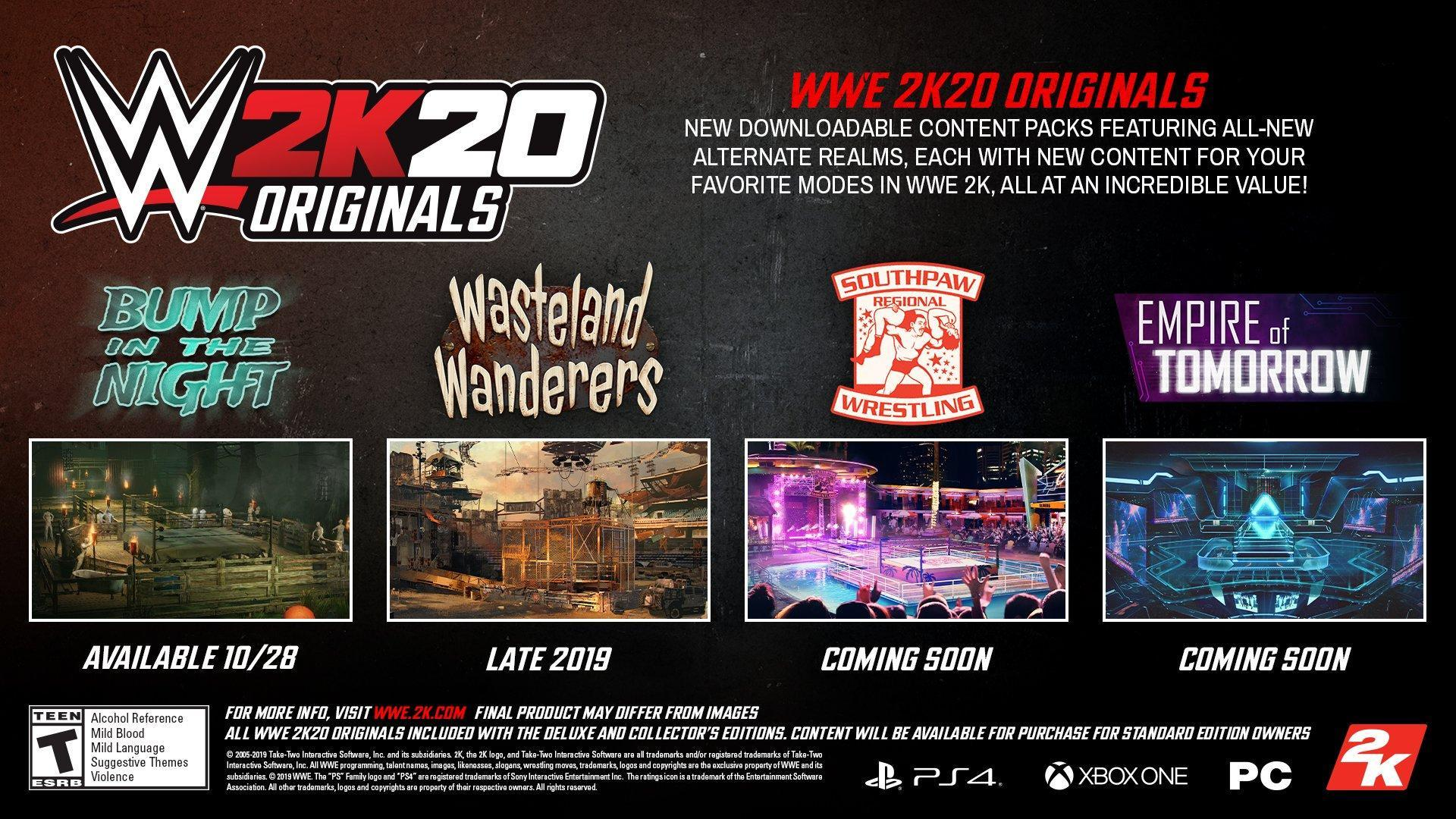 Wwe 2k20 Dlc Guide Complete Details On All 2k Originals Dlc Packs And Downloadable Content Wwe 2k20 Guides Wwe 2k20 Coverage News Updates