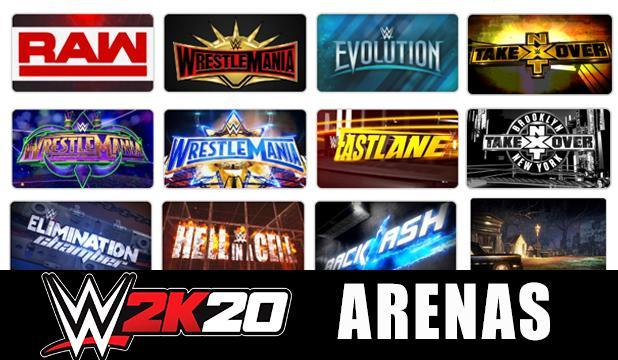 WWE 2K20 Arenas FULL LIST: All Shows, PPVs & Classic Arenas