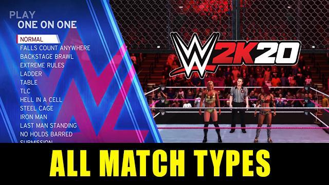 WWE 2K20 All Match Types - Full List, Custom Match Rules, New Weapon Wheel